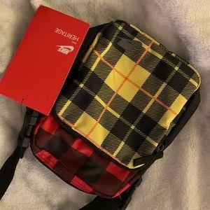 Nike plaid crossbody bag brand new